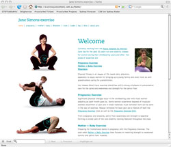 Jane Simons exercise website: click to visit site