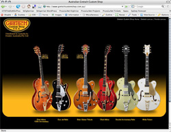 Gretsch Custom Shop website