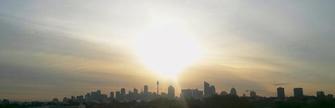 Background image: Sydney sunrise